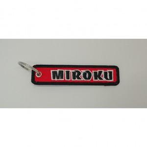 miroku letter embroidery keychain