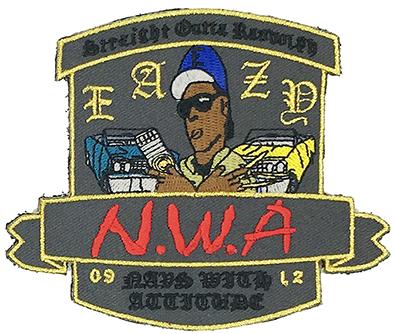 custom made nwa eazd logo embroidery patch Featured Image