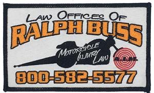 Custom made ralph buss logo embroidery patch