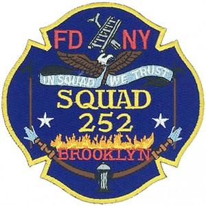 custom made fdny squad 252 brooklyn logo embroidery patch