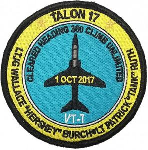 custom made talon-17 airplane logo embroidery patch
