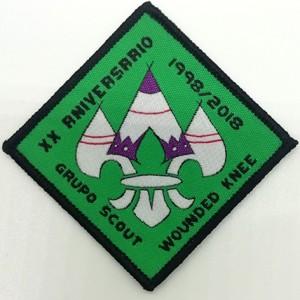custom made sew on merrow borders grupo scout woven badges