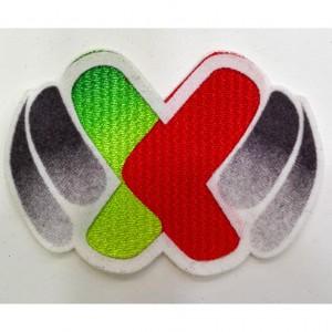 Custom xxx embroidery  flock patch