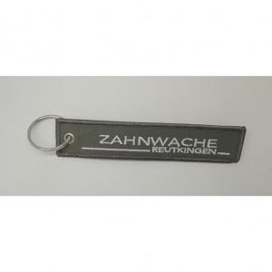 custom made zahnwache embroidery keychain